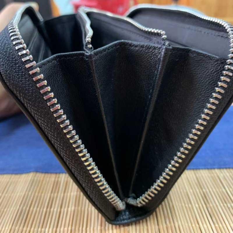 节日礼品定制男士皮革钱包大容量男士钱包一件代发