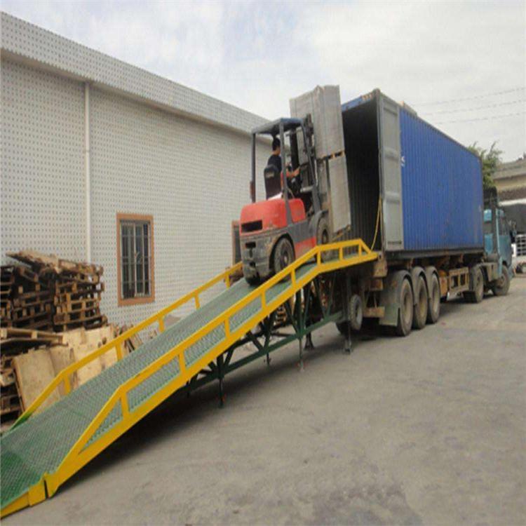 货车卸货平台 工厂叉车卸货平台 厢式货车上下货坡道爬坡