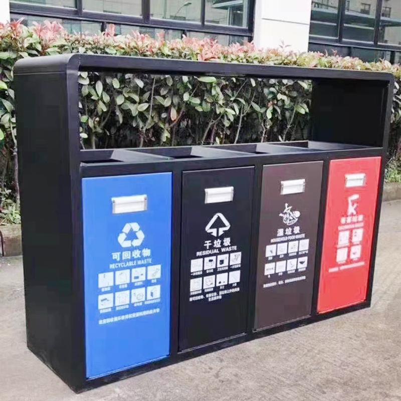 供应南京户外垃圾桶4分类果皮箱柯兰斯牌
