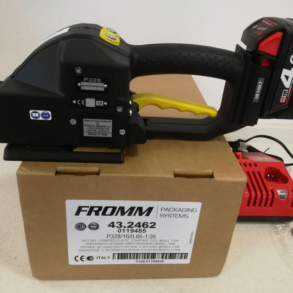 沈阳FROMM电动进口打包机销售-P328便携式手持热熔打包机