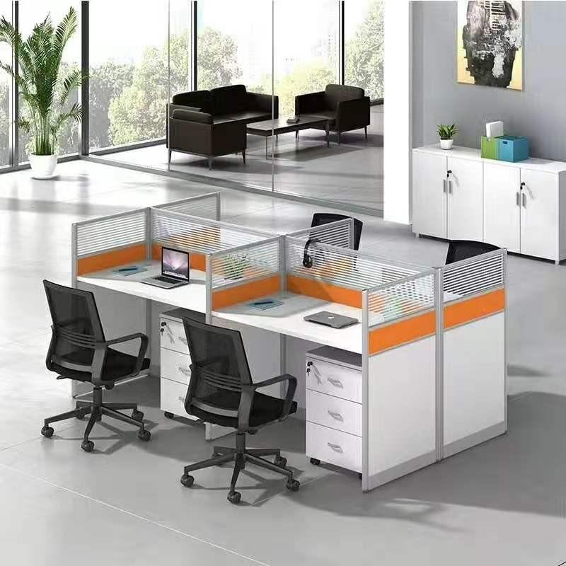上海职员屏风办公桌组合简约现代员工电脑工位2/4/6工作桌碧江家具