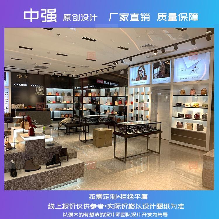 南京服装店铺装修设计展示柜展示架定做服装柜台定做厂家 中强