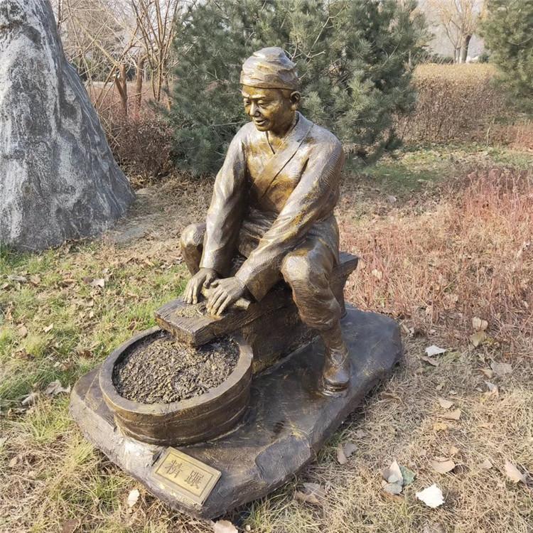 农耕人物雕塑报价 公园主题农耕雕像 户外玻璃钢雕塑