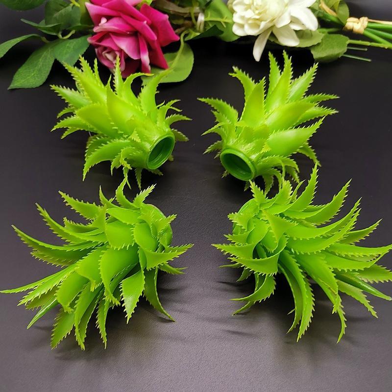 装饰假水果 仿真菠萝头模型 塑料菠萝叶子 假凤梨模型