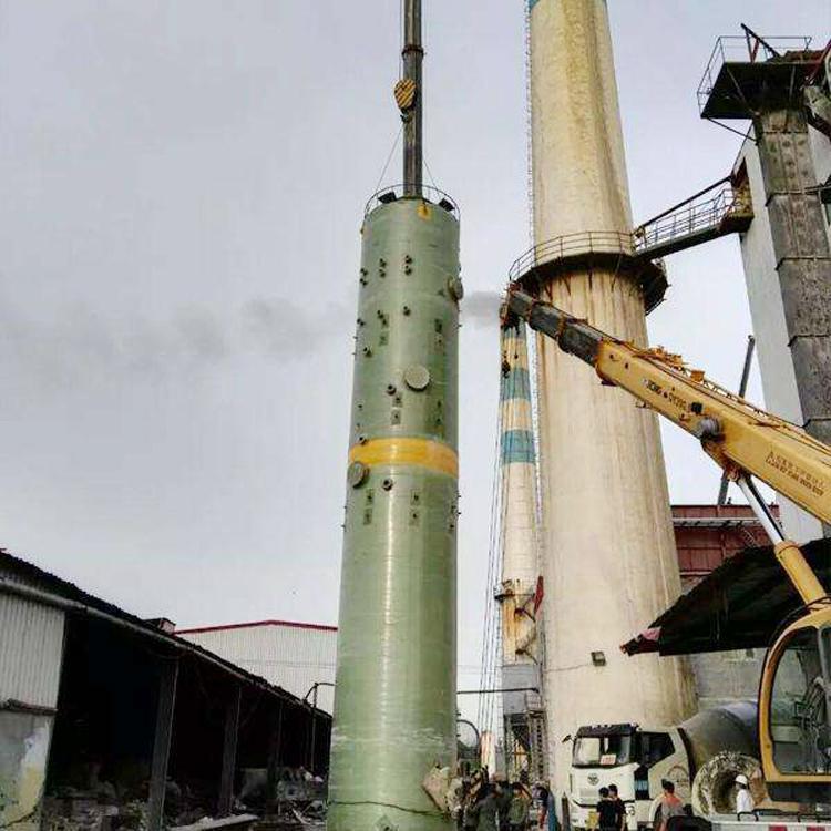 除尘处理废水废气工业污染玻璃钢脱硫塔 锅炉脱硫塔 脉冲布袋式除尘器 -河北世鑫