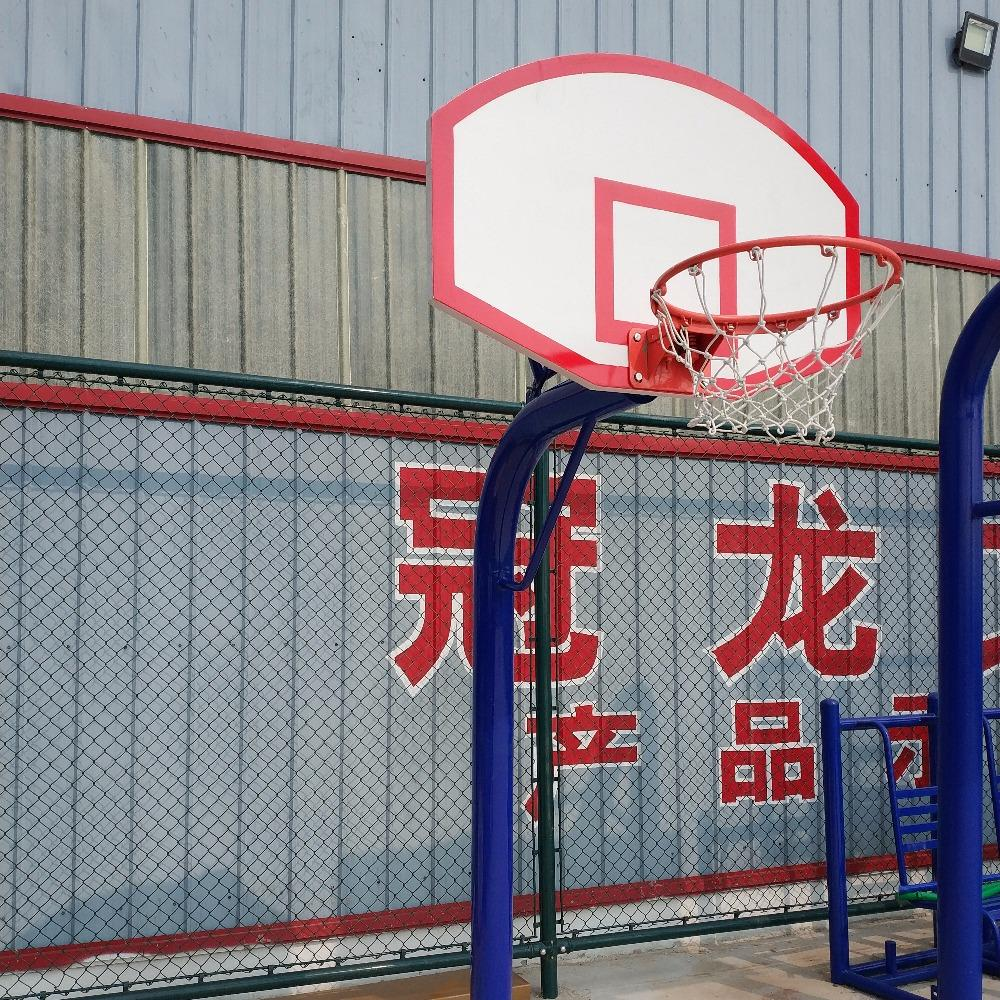 冠龙文体厂家直销 儿童圆管地埋篮球架 室外地埋圆管篮球架