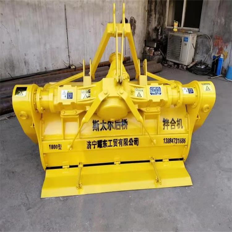 金齐鲁拖拉机带动齿轮式拌合机 后置新型筑路拌和机 路面修整拌和机