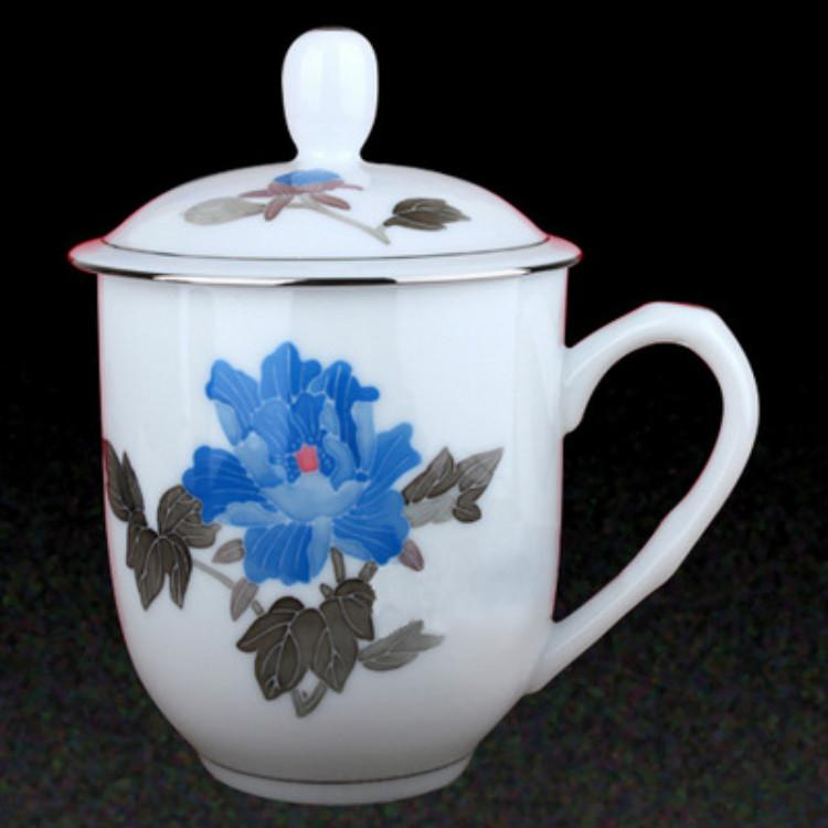 手绘釉下彩礼品陶瓷会议纪念杯质优价廉性能稳定销售精品大量供应质量保障