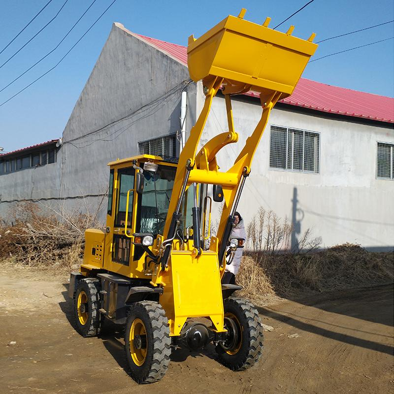 小型装载机小铲车装卸机推土抓草机建筑工地铲车装载机