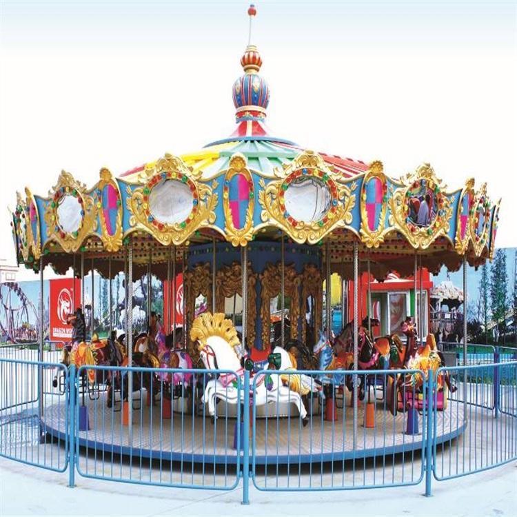 益瑞游乐设备广场儿童豪华转马游乐场旋转木马