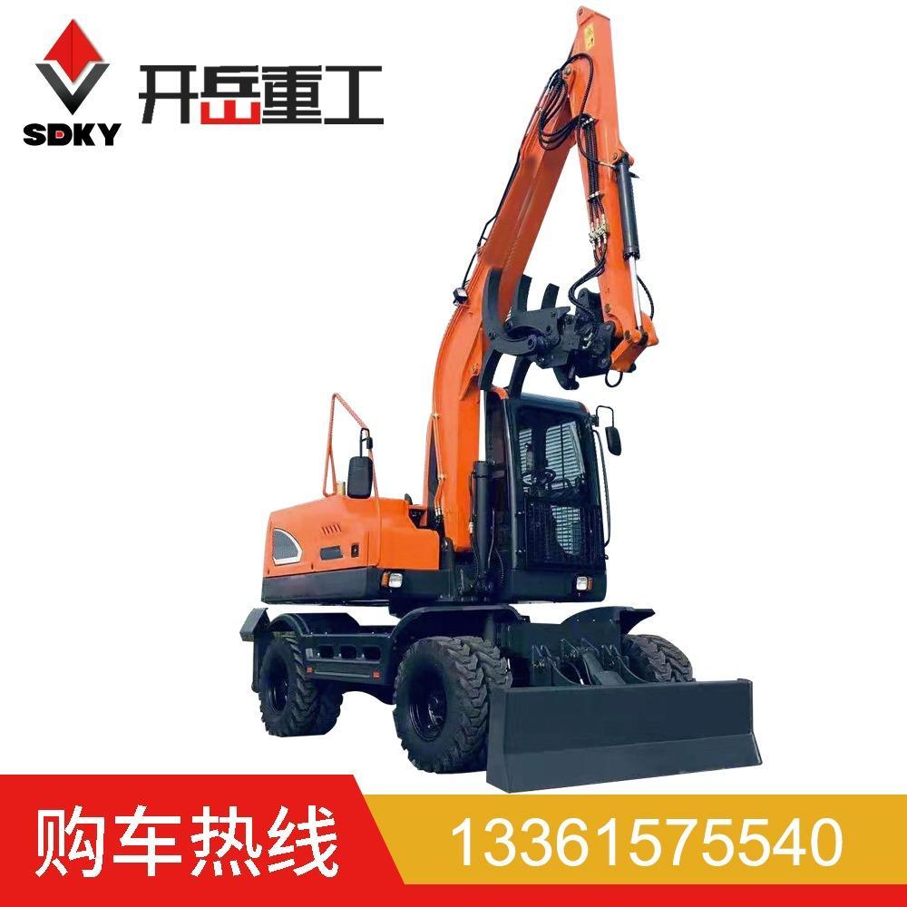 轮式挖掘机 钩机可改装抓甘蔗抓木轮式挖掘机