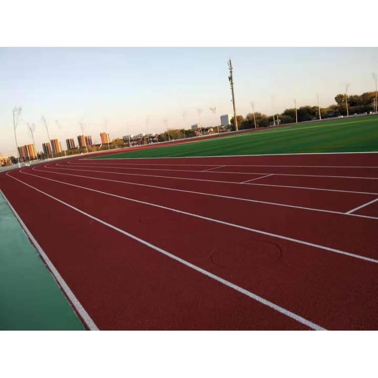 新国标 epdm塑胶跑道 环保塑胶跑道 全塑型塑胶跑道