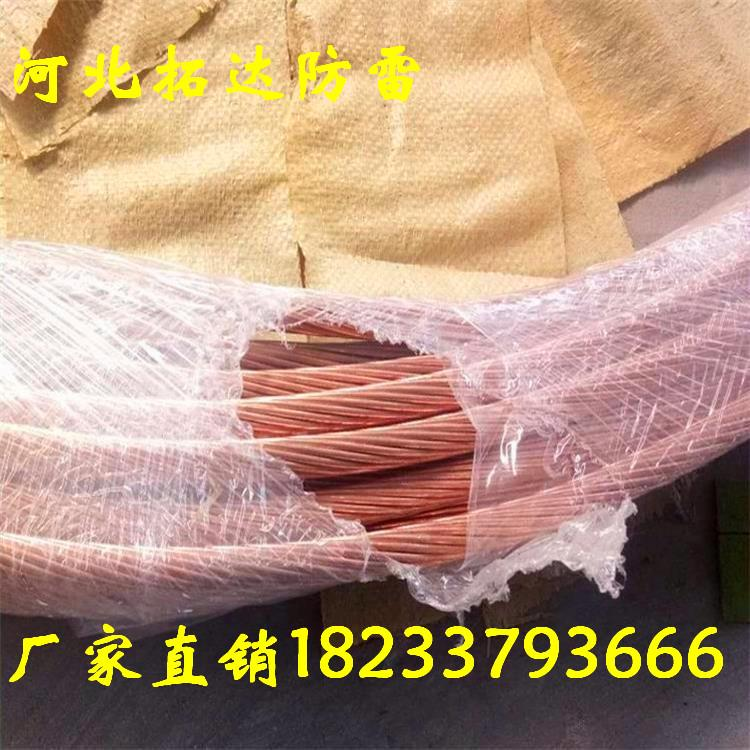 河北拓达供应防雷水平接地引线 95mm2 铜包钢绞线50mm2多股覆铜钢绞线