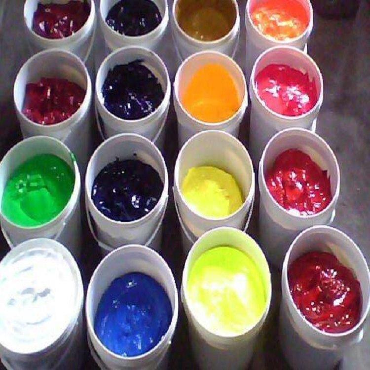 建筑色浆红黄蓝绿色浆永固紫炭黑水性色浆批发