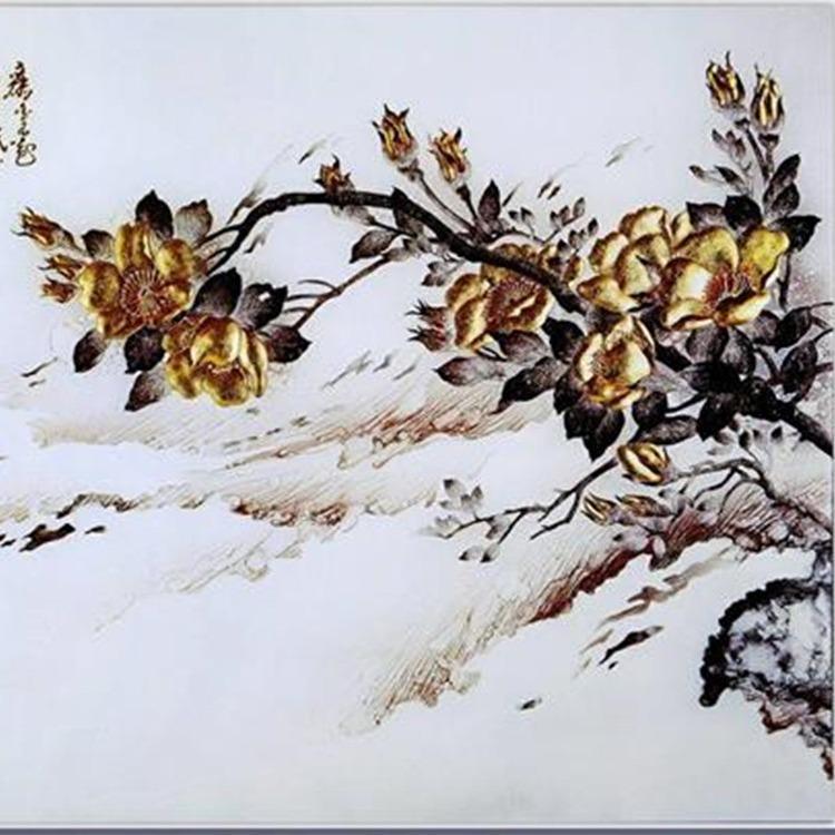 上海玉娇 艺术玻璃壁画加工 地铁壁画玻璃来图定制