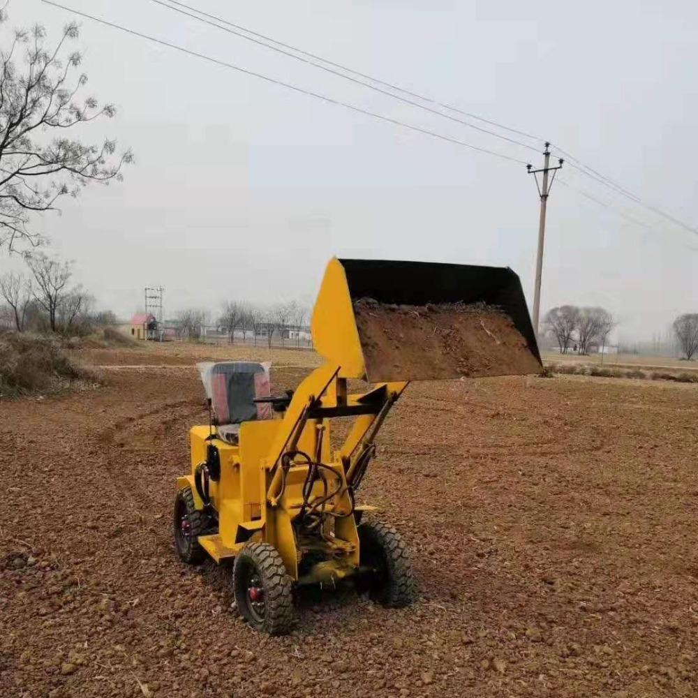 电动四驱装载机 养殖场专用小型电动环保四驱电动液压轮式铲车机