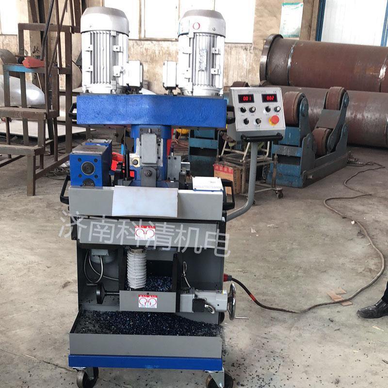 河南商丘自动行走多角度钢板铣边机 钢结构金属容器行业