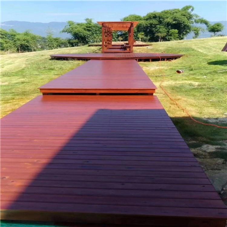 贵州六盘水防腐木凉亭防腐木长廊生产加工