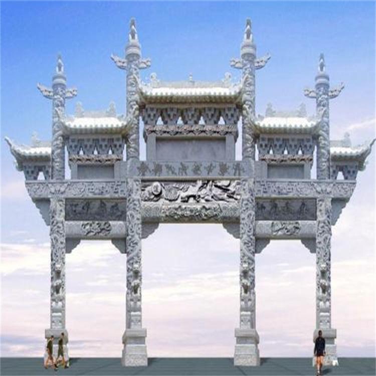 南京三门石牌坊五门石牌坊石牌楼厂家报价上门安装
