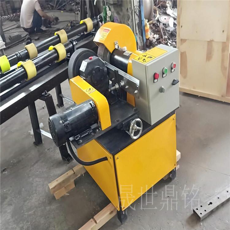 圆管钢丝轮除锈机 无极变速调速外圆圆管打磨抛光机