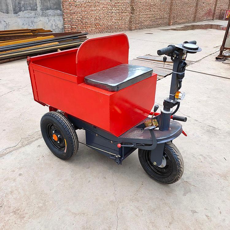 锦贤机械 电动三轮灰斗车 一方电动灰斗车 小型骑行拉灰车可进电梯