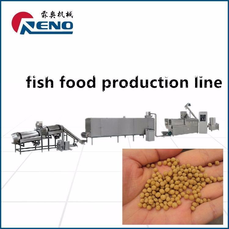 浮水鱼饲料生产设备 膨化鱼饲料生产设备RN70-2