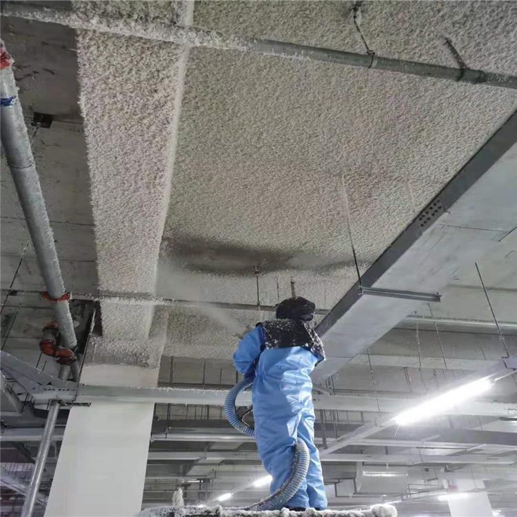 机房地下室夹层乾美无机纤维喷涂施工玻璃棉喷涂施工