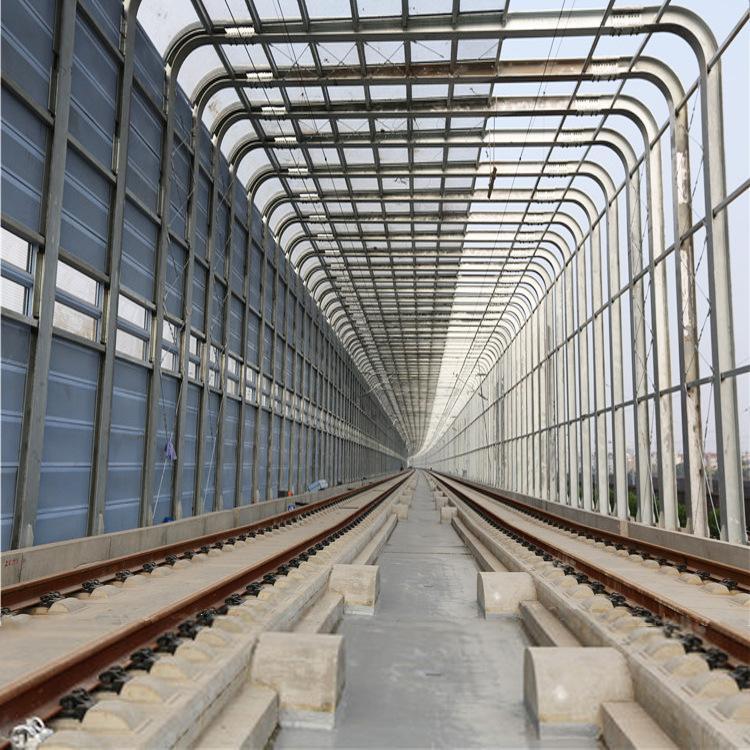 弧形声屏障-直立吸音板-透明隔声板-隔音屏价格声屏障厂家-桥梁隔音墙
