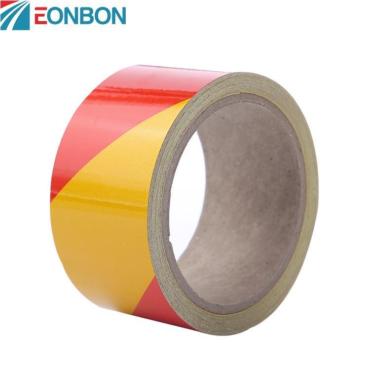 昆山厂家直销反光警示胶带 EONBON专业定制双色斜纹反光膜 警示反光膜价格 规格可定制