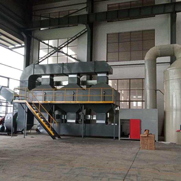鹏龙现货销售活性炭吸附脱附有机废气处理净化器Rco蓄热式催化燃烧成套设备