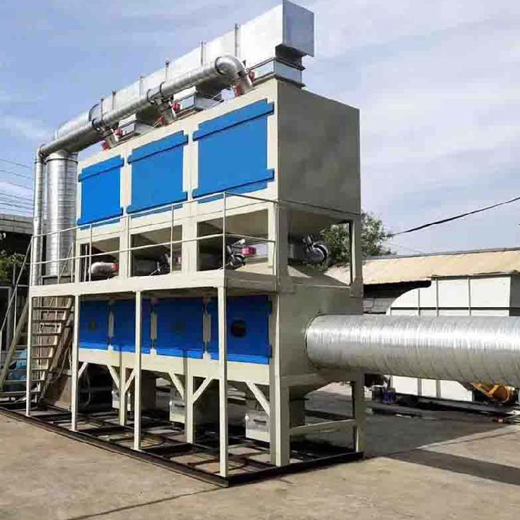 鹏龙现货销售催化燃烧设备工业废气处理ROC蓄热式活性炭吸附脱附净化环保设备