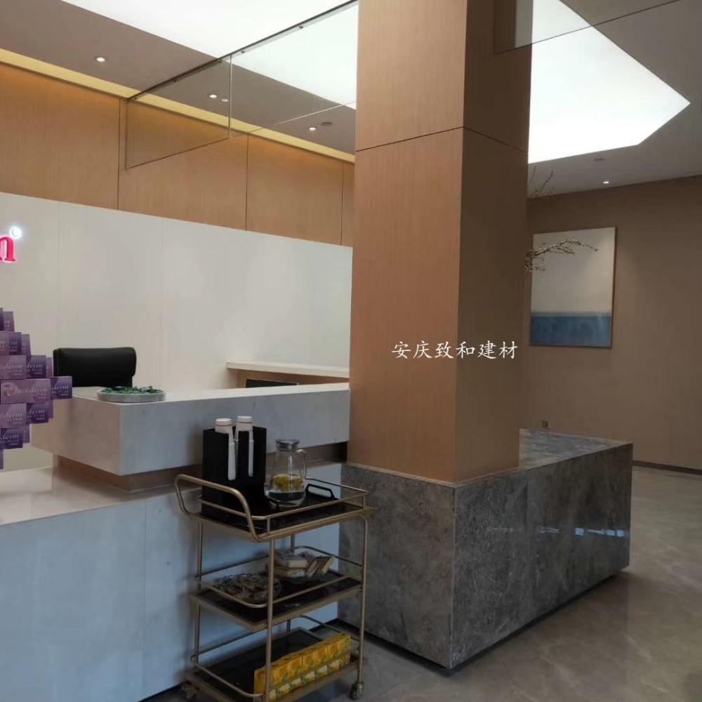 致和商场 办公楼 写字楼 办公室 银行 医院 电梯间金属钢质复合墙板 覆膜金属板 木纹墙板6059