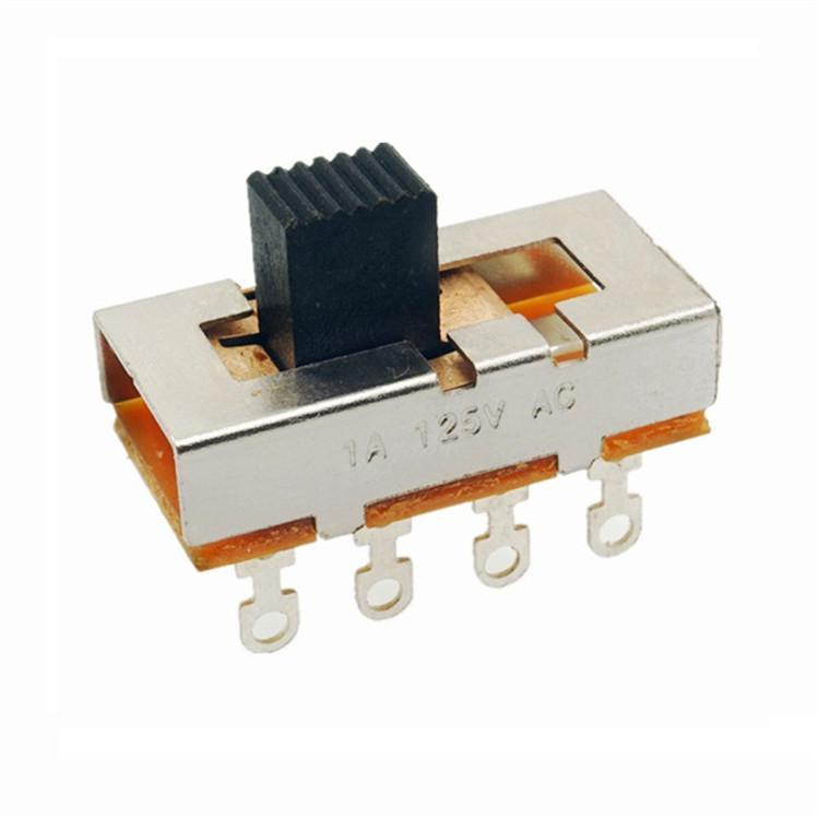 立式拨动SS-23L02高端玩具3档大电流滑动开关行程开关不带耳双排带孔