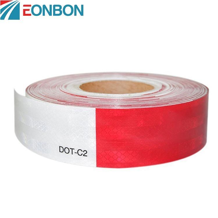 厂家直销反光胶带 EONBON专业定制晶彩格反光膜 苏州红白格反光膜车身贴