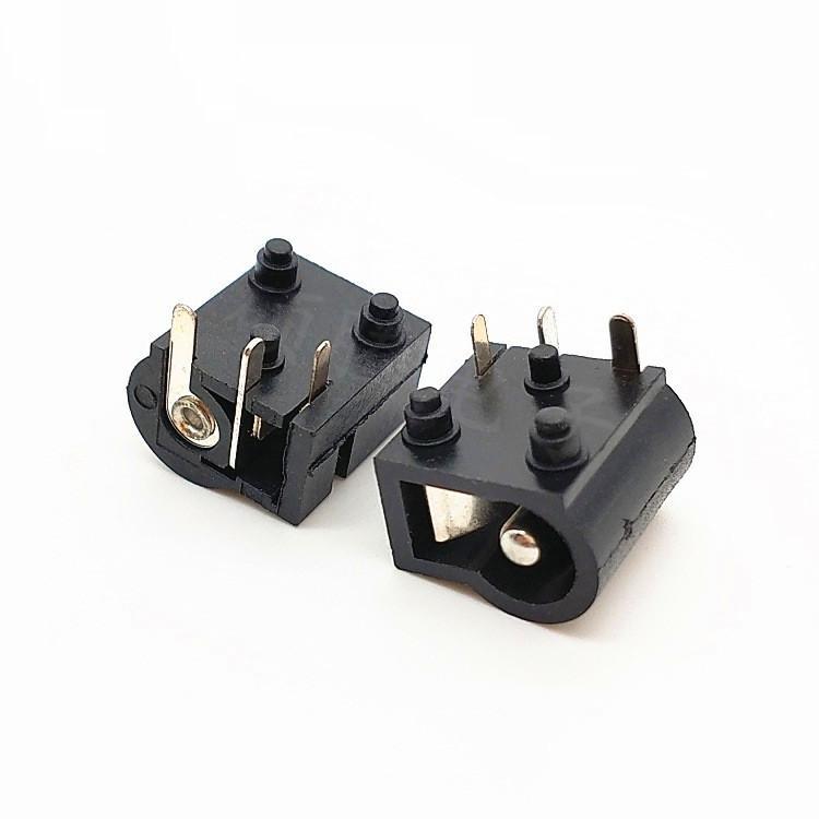 志顺厂销DC-004A电源插座 dc jack 充电插座5.52.1/2.5圆针平针 小家电充电接口