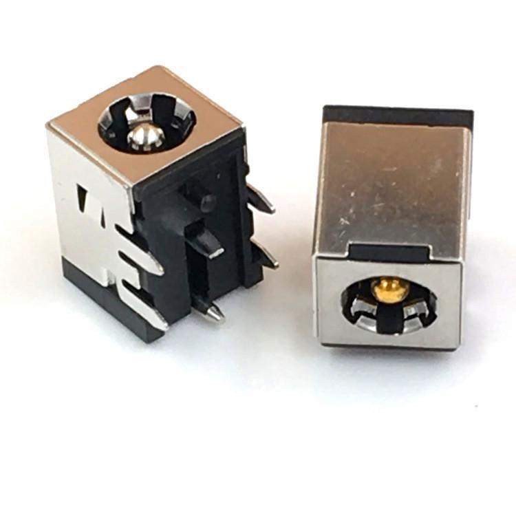 厂家直销10A大电流金属电源插座 DC007B 全铜笔记本电源插座DC528