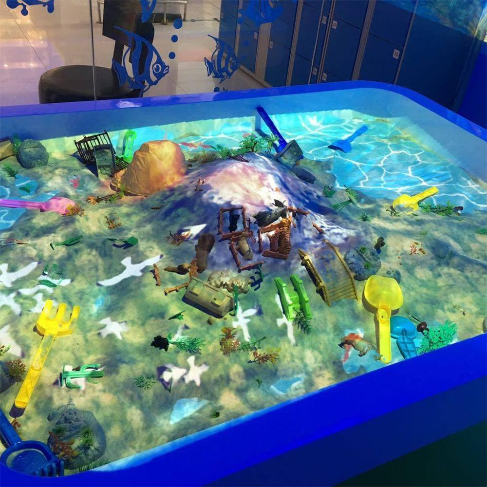 互动沙桌 投影互动沙池 投影沙池定制