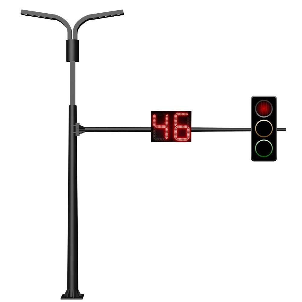 交通信号灯悬臂式电子警察杆标志牌杆红绿灯监控灯杆