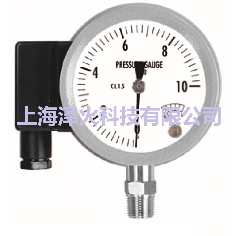 进口全不锈钢带接触器压力表MSPS系列 微动开关型压力表