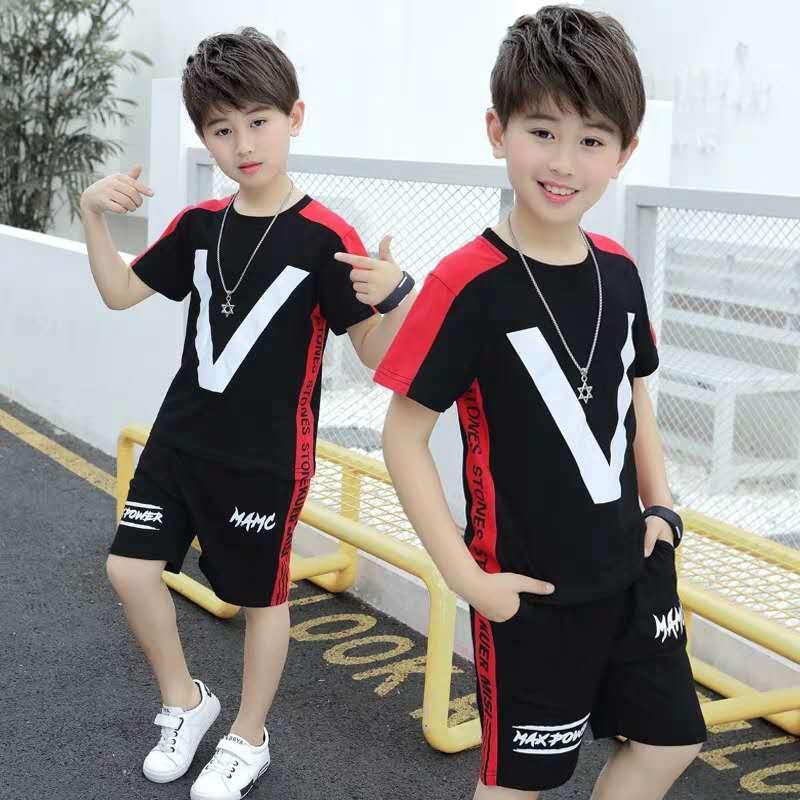儿童网红童装批发中小童夏装洋气套装2020新款时髦衣服小女孩衣服夏季大童韩版