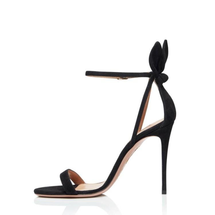 爱美成女鞋生产厂家2020年夏季新款欧美风条带中空后跟兔耳朵高跟女鞋代加工厂
