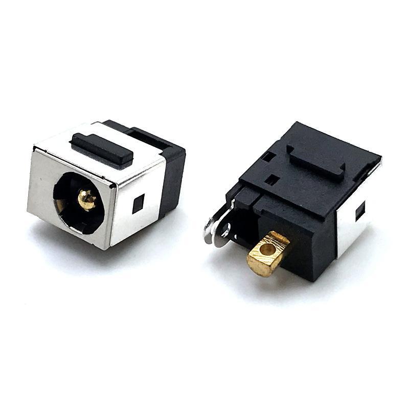 平板电脑DC电源母座 180度立式直流端子头 插孔 电源插座DC167 两脚