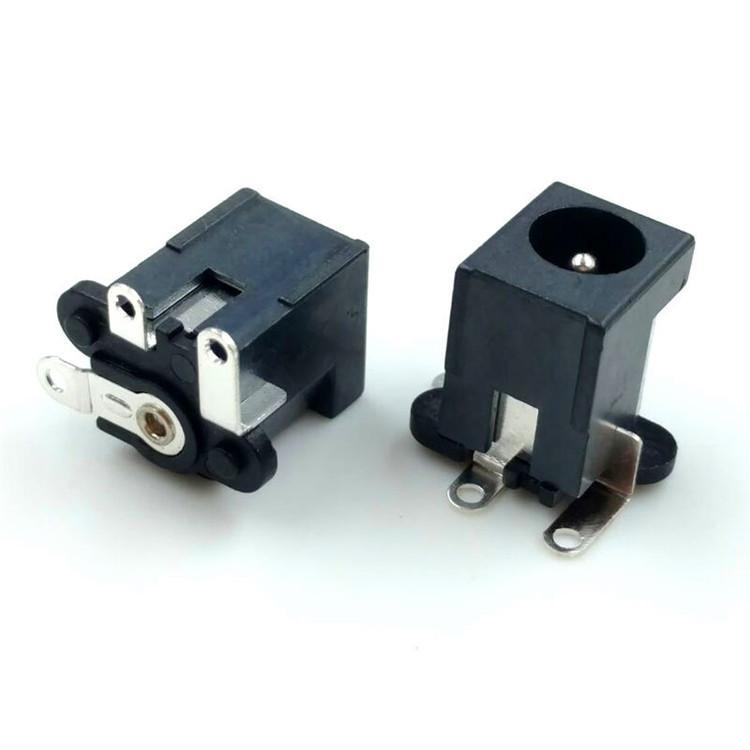DC插座DC515全铜母座9*11直流充电电源座005立贴1A贴膜9T大电流