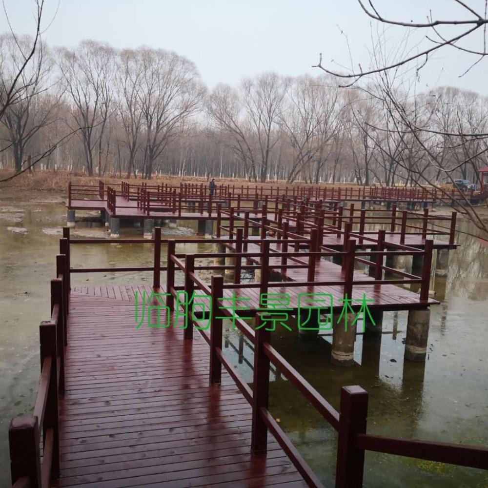 临朐丰景园林 木栈道 亲水平台 混凝土栈道生产厂家 水中嬉戏平台 曲桥 拱桥
