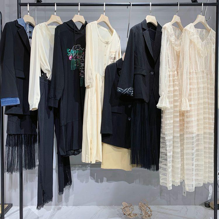 萨尼 品牌折扣公司 女士服装货源 樱子亮晶打底针织衫
