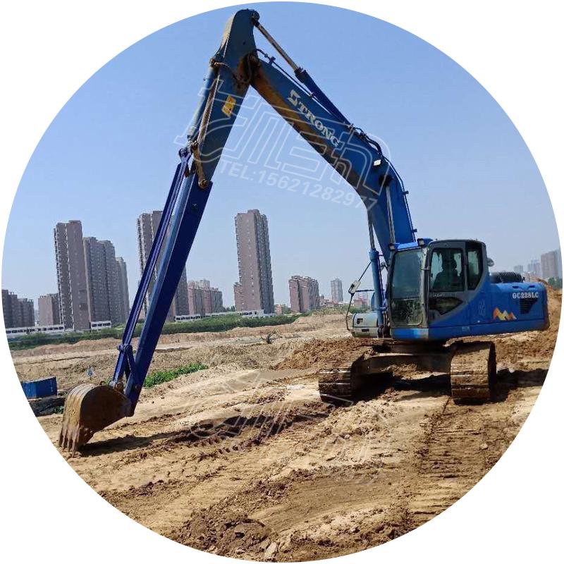 加长臂205挖机三段臂挖掘机15米三段臂