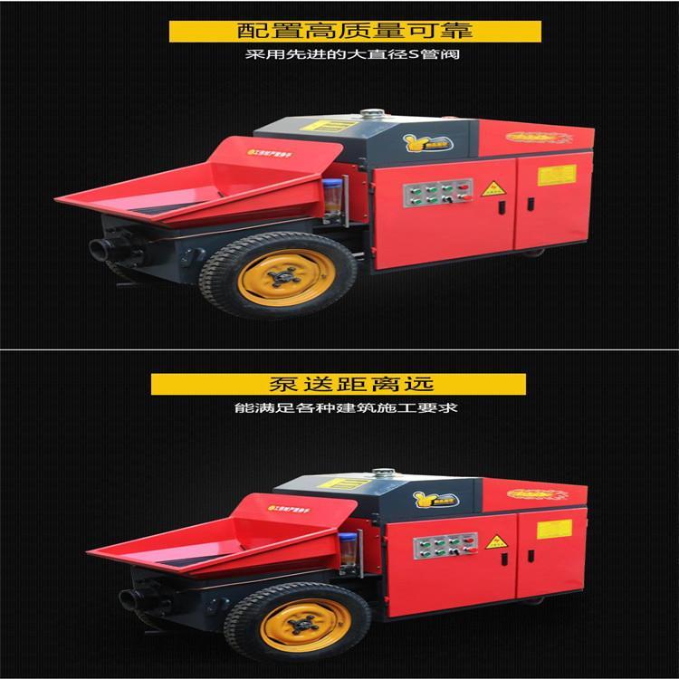 二次结构柱泵 高层建筑混凝土输送泵 梓明机械