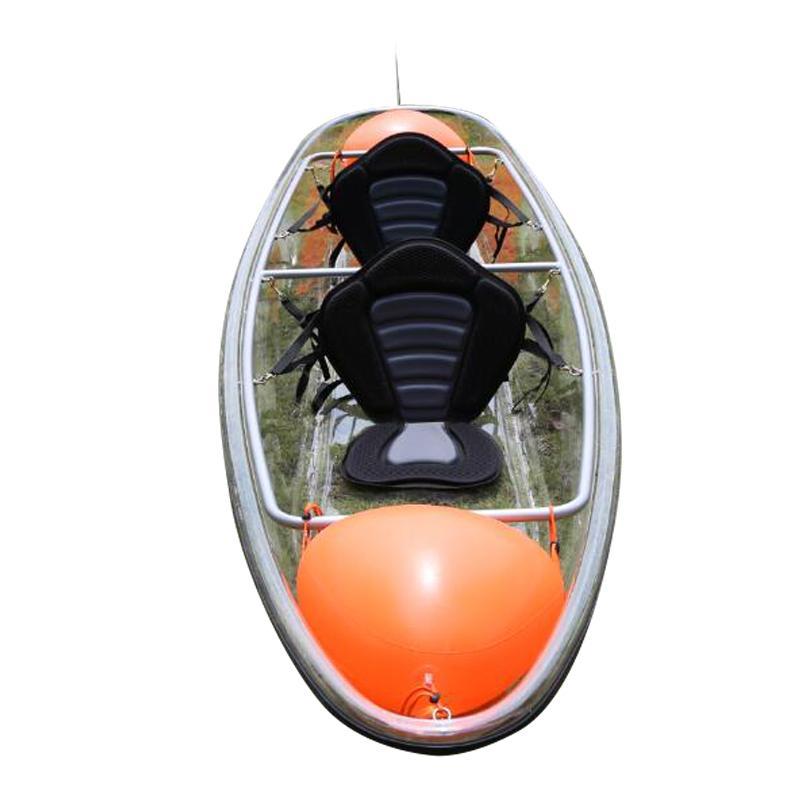 单双三人全透明皮划艇观光沙滩漂流滑水冲浪塑料小船独木舟