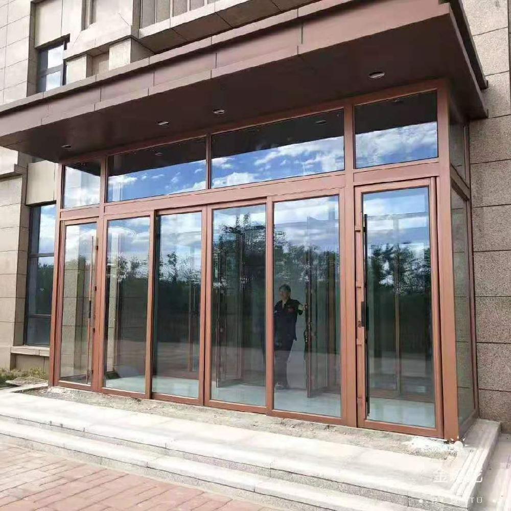 铝合金酒店大门 重型地弹门 118型重型地弹门3.0厚度 超高超宽酒店大门