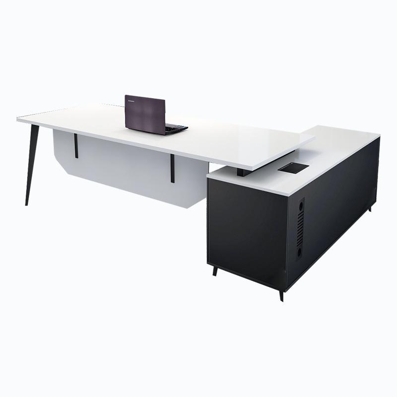老板桌 简约现代办公桌 主管桌 总裁桌 经理桌椅组合 阳光白